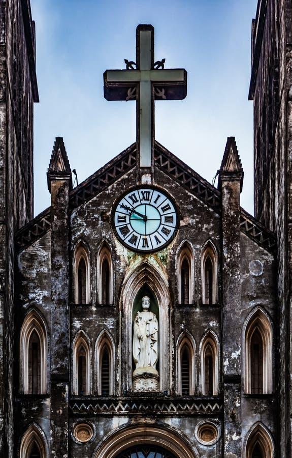 La cattedrale di St Joseph, punto di riferimento di Hanoi, Vietnam immagine stock