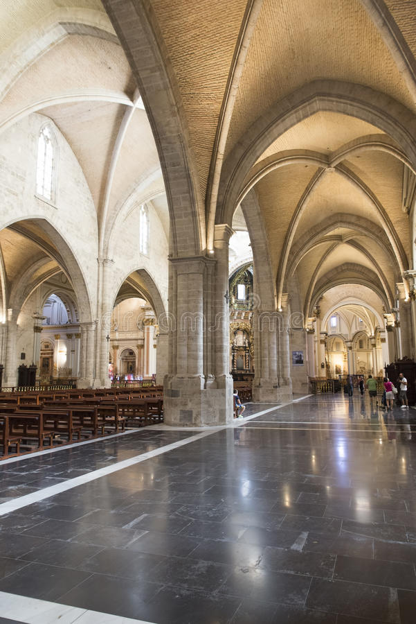La cattedrale di St Mary, Valencia fotografia stock