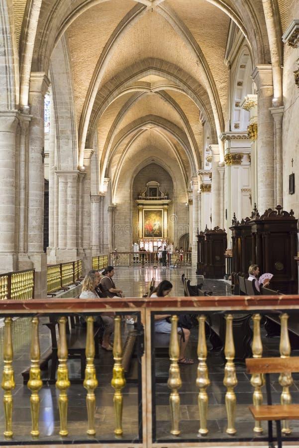 La cattedrale di St Mary, Valencia fotografie stock libere da diritti