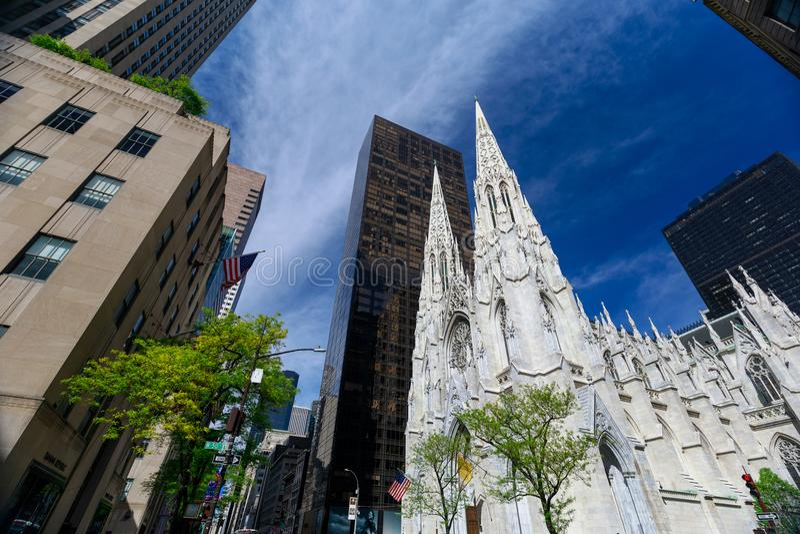 La cattedrale di St Patrick in Manhattan, NYC fotografia stock libera da diritti
