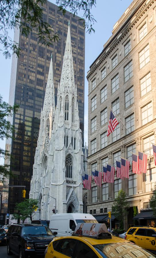 La cattedrale di St Patrick - Manhattan, NYC immagini stock libere da diritti
