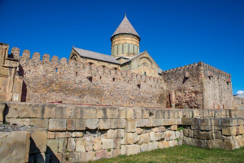 La cattedrale di Svetitskhoveli è un georgiano fotografie stock