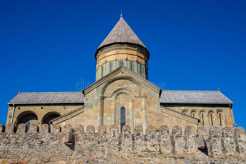 La cattedrale di Svetitskhoveli è un georgiano immagini stock libere da diritti