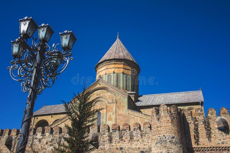 La cattedrale di Svetitskhoveli è un ortodosso georgiano fotografia stock libera da diritti