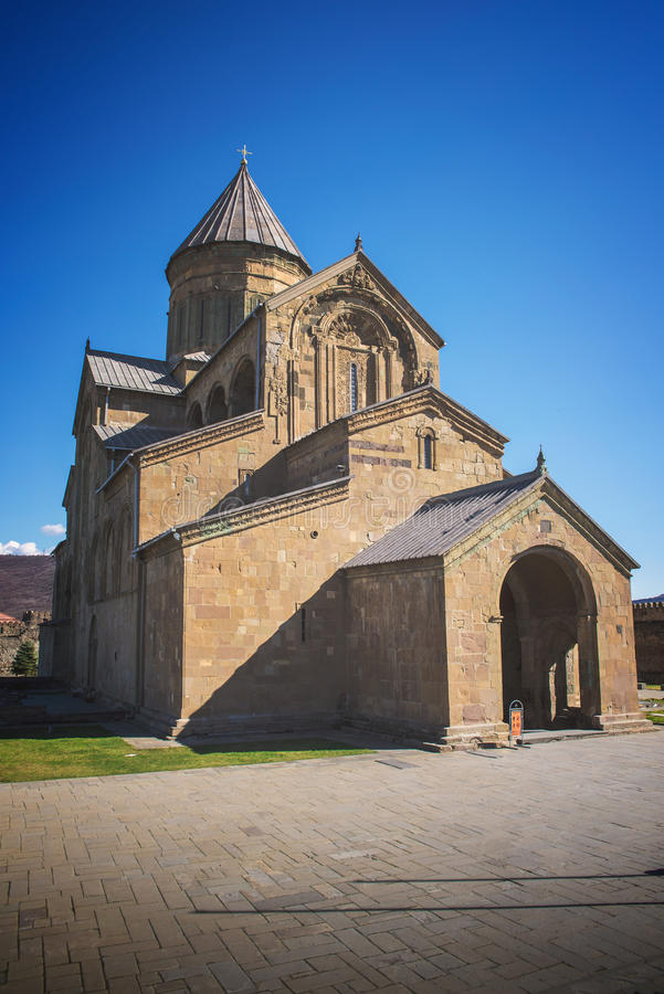 La cattedrale di Svetitskhoveli è un ortodosso georgiano fotografie stock libere da diritti