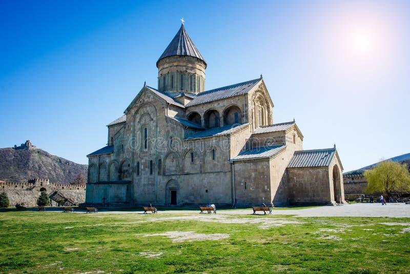La cattedrale di Svetitskhoveli è una cattedrale ortodossa georgiana immagine stock