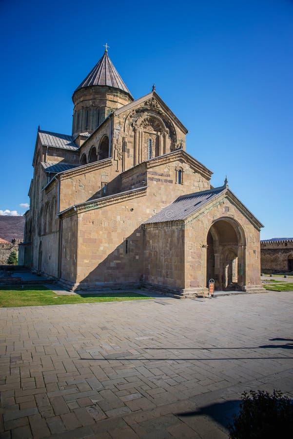 La cattedrale di Svetitskhoveli è una cattedrale ortodossa georgiana immagine stock libera da diritti