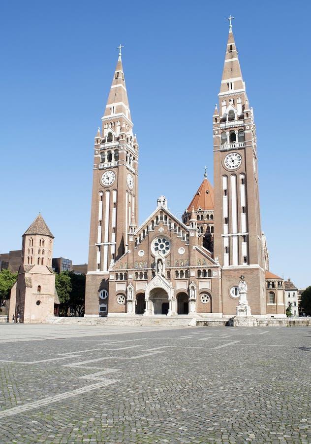 La cattedrale di Szeged, Ungheria fotografie stock libere da diritti