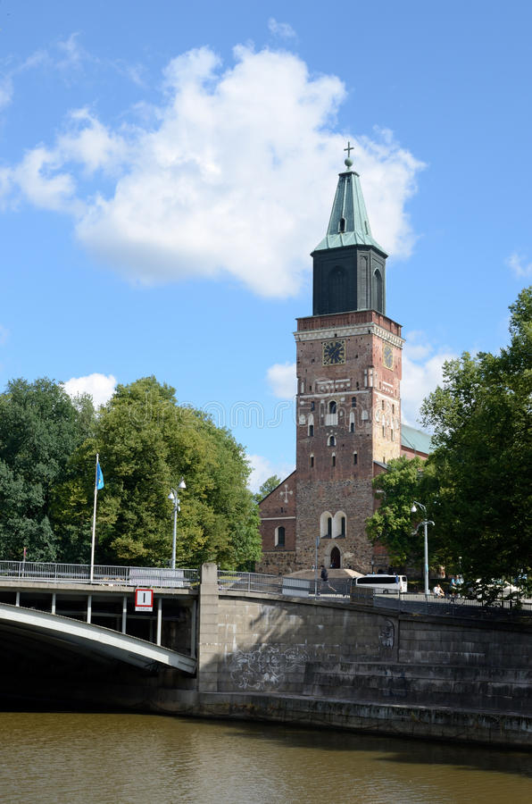 La cattedrale di Turku è la chiesa di madre di luterano evangelico dentro fotografie stock