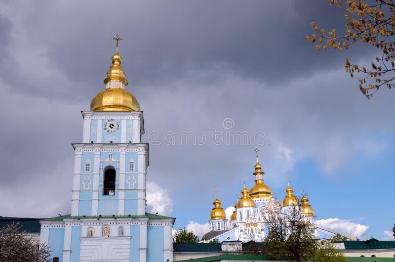 La cattedrale Dorato-a cupola di St Michael, Pasqua 2017 immagini stock