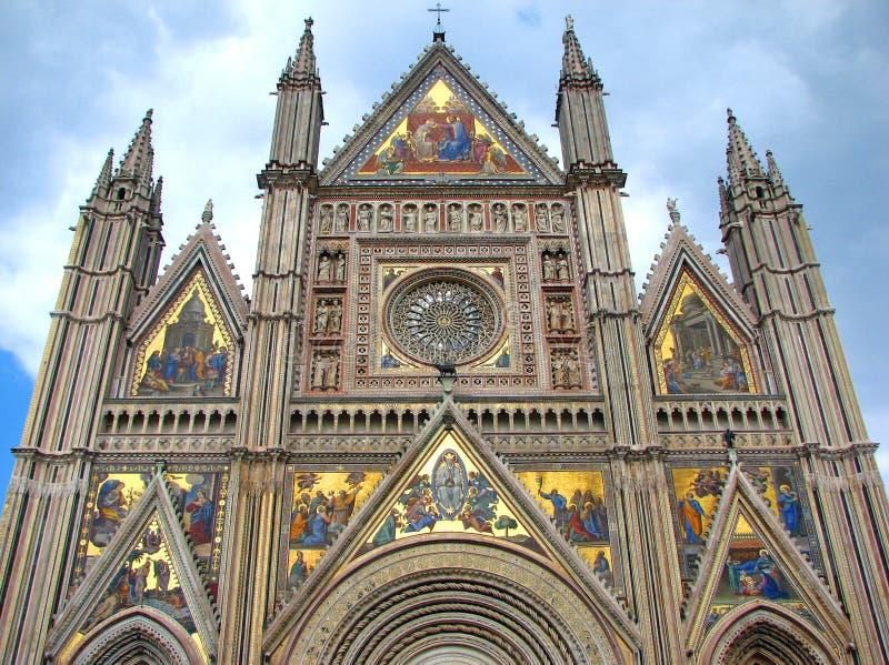 La cattedrale gotica di Orvieto fotografia stock