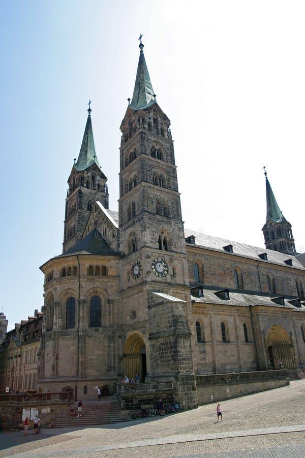 La cattedrale imperiale di Bamberga fotografia stock libera da diritti