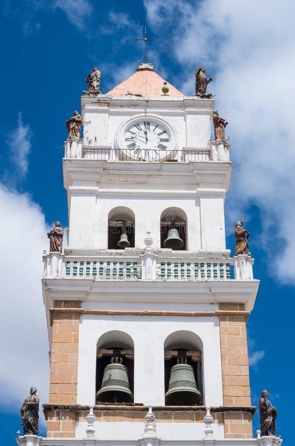 La cattedrale metropolitana a Sucre, Bolivia immagini stock
