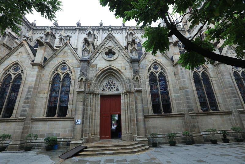 La cattedrale sacra 3 del cuore di Canton ha lasciato Guangdong - la Cina laterali fotografia stock libera da diritti