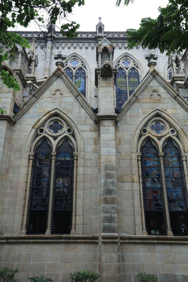 La cattedrale sacra 4 del cuore di Canton ha lasciato Guangdong - la Cina laterali fotografia stock libera da diritti