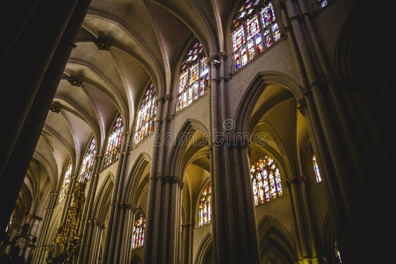 La cattedrale si arca, turismo, Toledo, la maggior parte della città famosa in spagna fotografia stock