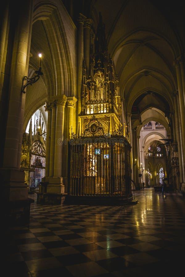 La cattedrale si arca, turismo, Toledo, la maggior parte della città famosa in spagna fotografie stock
