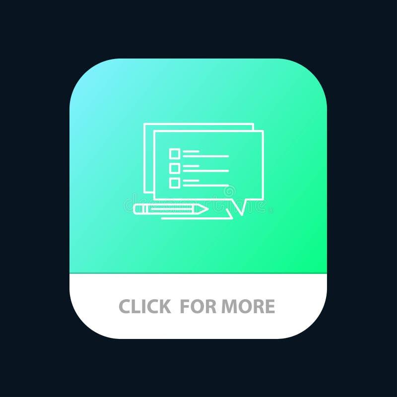 La causerie, Sms, message, écrivent le bouton mobile d'appli Android et ligne version d'IOS illustration stock