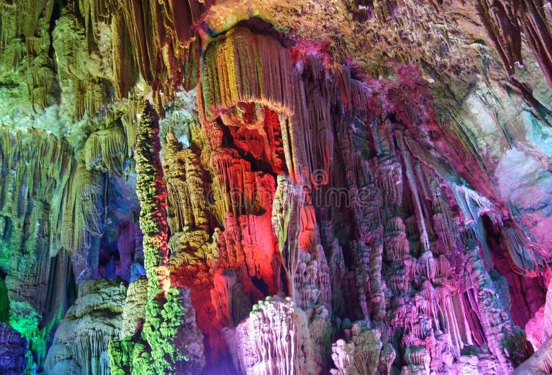 La caverna a lamella brillante della scanalatura fotografia stock