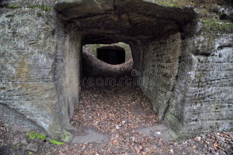 La caverne de roche photographie stock