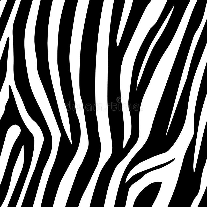 La cebra raya el modelo inconsútil Estampado de zebra, piel animal, rayas del tigre, modelo abstracto, línea fondo, tela Mano aso stock de ilustración