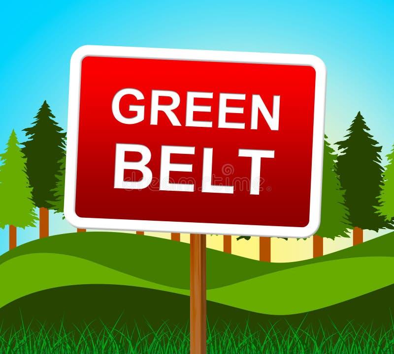 La ceinture verte indique le pays et la campagne d'environnement illustration de vecteur