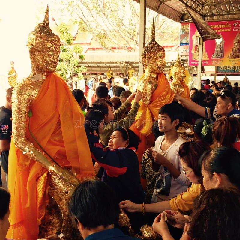 La celebración de Buddhistism en Año Nuevo fotos de archivo