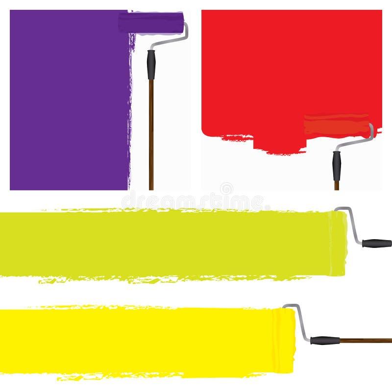 La celebración de la pintura colorea la pared ilustración del vector