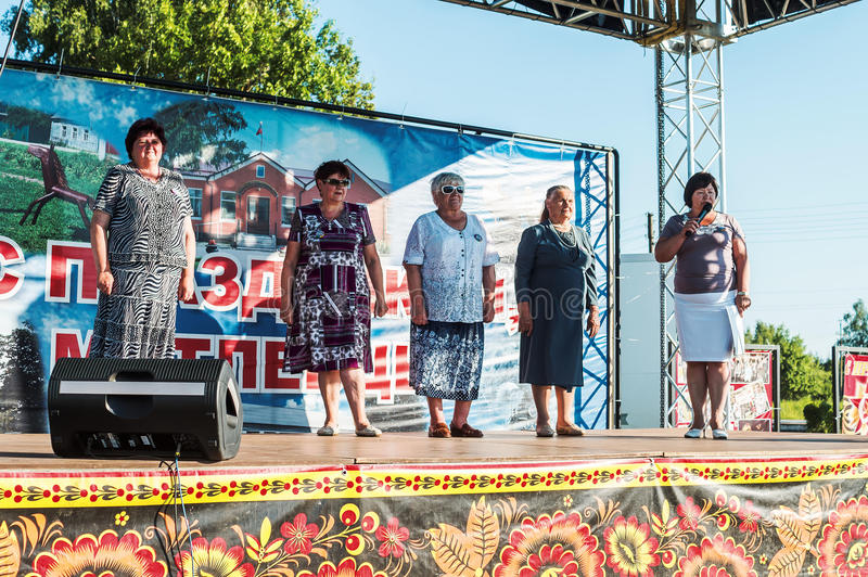 La celebración del día de la juventud en la región de Kaluga en Rusia el 27 de junio de 2016 fotos de archivo