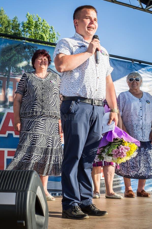 La celebración del día de la juventud en la región de Kaluga en Rusia el 27 de junio de 2016 imagen de archivo