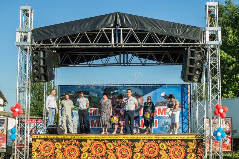 La celebración del día de la juventud en la región de Kaluga en Rusia el 27 de junio de 2016 foto de archivo libre de regalías
