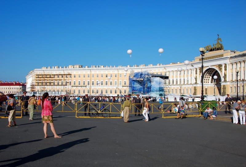 La celebración del día de la marina de guerra en St Petersburg foto de archivo libre de regalías