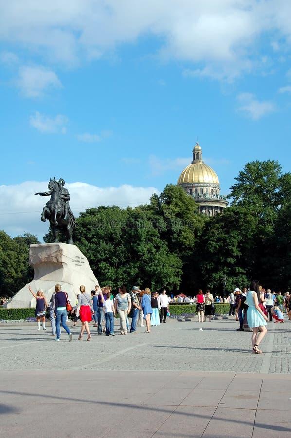 La celebración del día de la marina de guerra en St Petersburg fotos de archivo