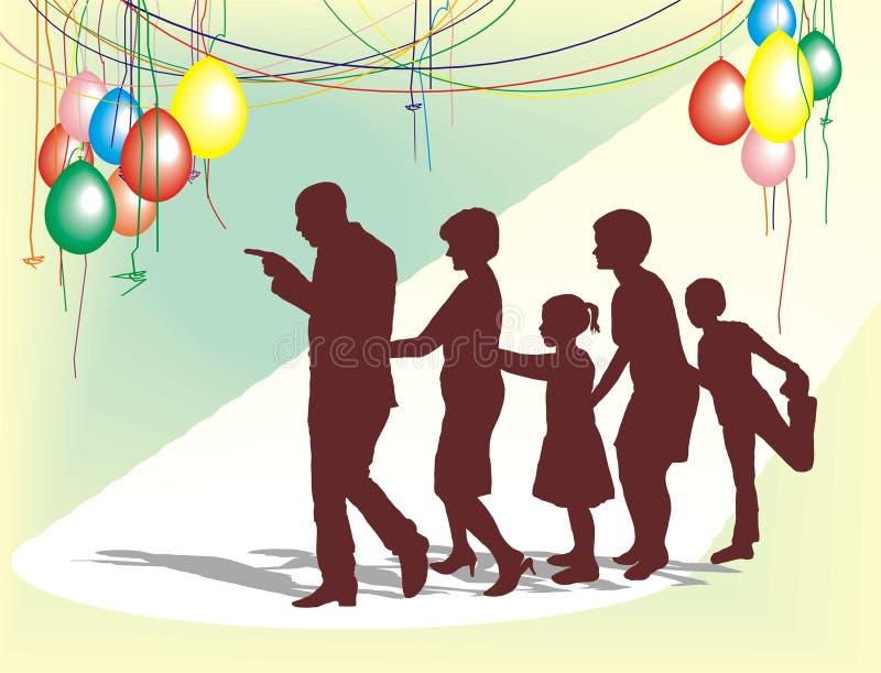 La celebrazione di famiglia fotografia stock