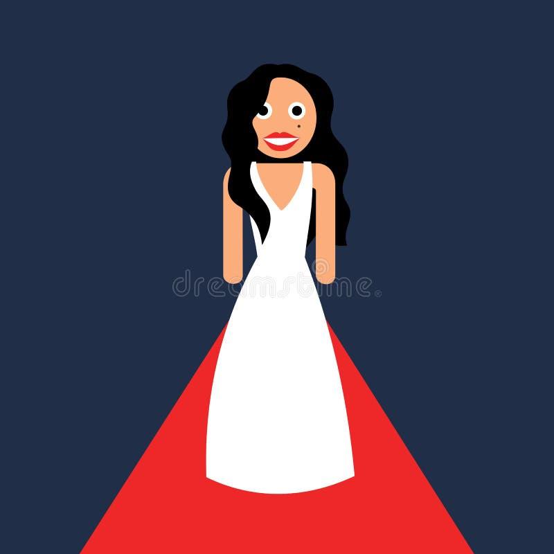 La celebridad y la actriz está caminando en la alfombra roja libre illustration