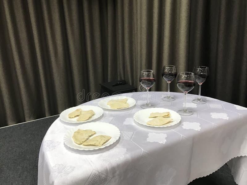 La cena del ` s del señor Preparaciones para la celebración imágenes de archivo libres de regalías