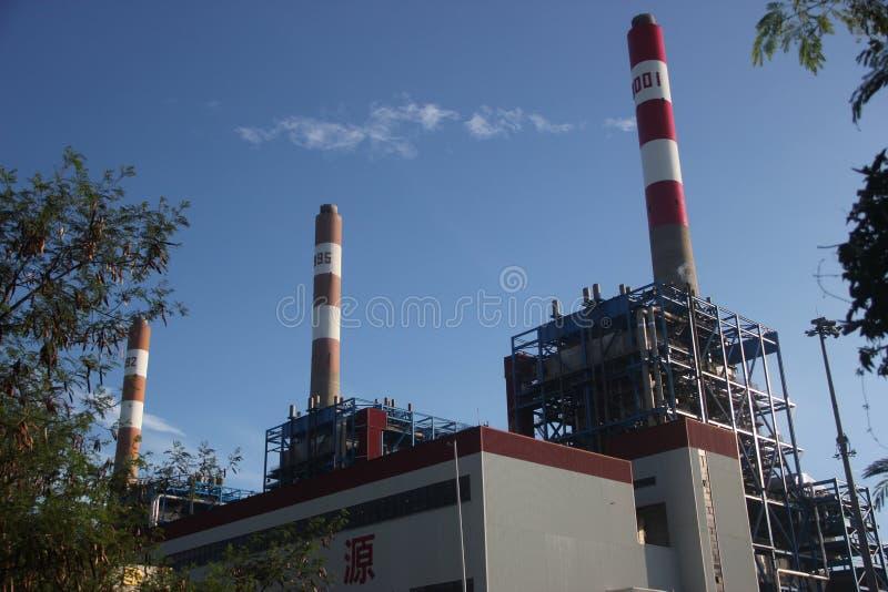 La central eléctrica de la incineración de la basura en SHENZHEN CHINA ASIA imágenes de archivo libres de regalías