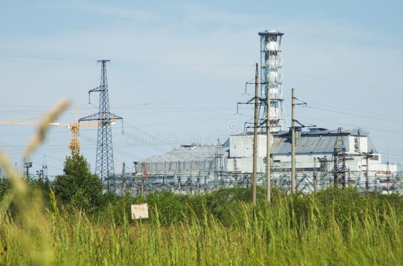 La central nuclear de Chernobyl. imagen de archivo libre de regalías
