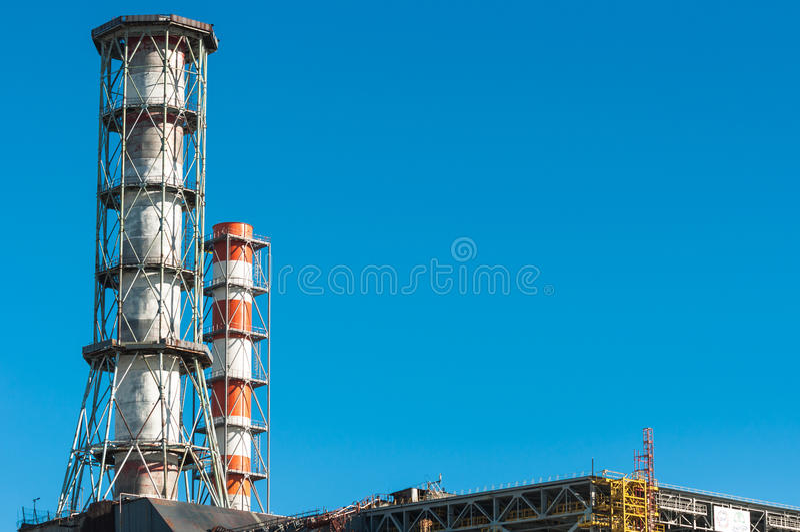 La central nuclear de Chernobyl fotografía de archivo libre de regalías