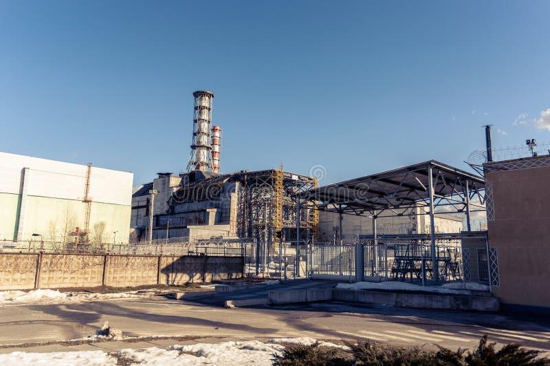 La central nuclear de Chernobyl imágenes de archivo libres de regalías