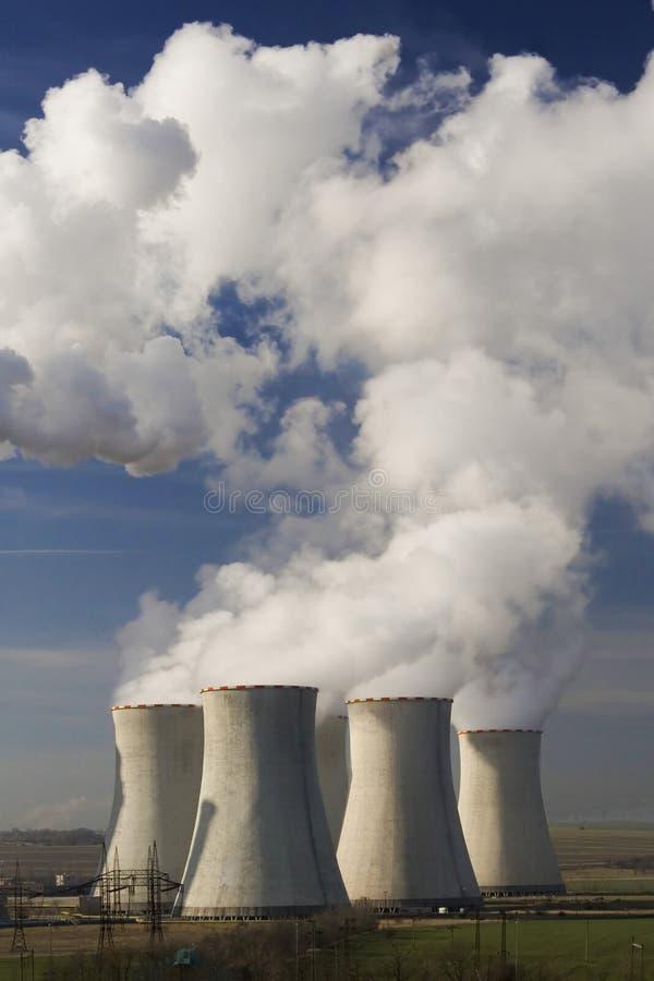La centrale elettrica Pocerady fotografia stock libera da diritti
