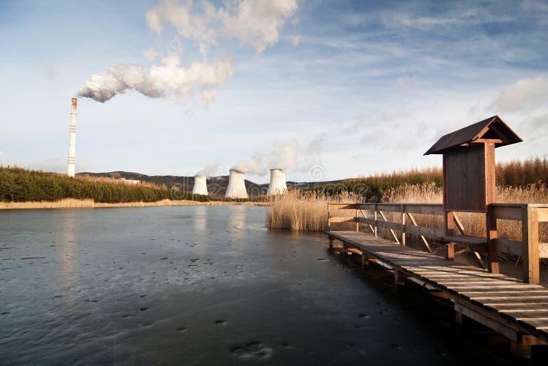La centrale elettrica Prunerov immagini stock