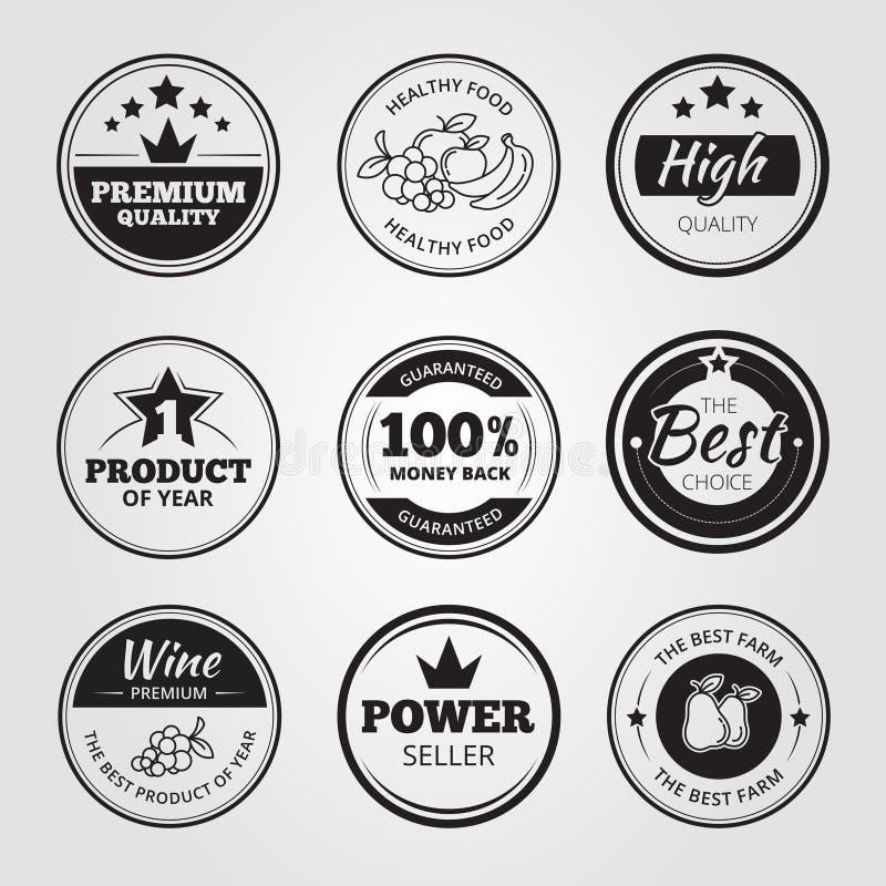 La cera d'annata di alta qualità sigilla le etichette, distintivi e royalty illustrazione gratis