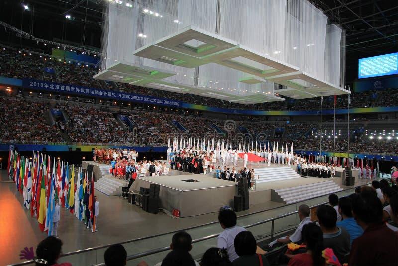 La ceremonia de inauguración foto de archivo libre de regalías