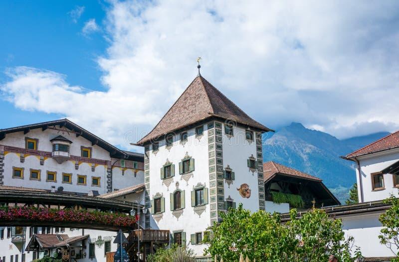 La cervecería de Forst, fundada en 1857, se conoce como una de las cervecerías más grandes del conjunto de Italia y está situada  fotografía de archivo