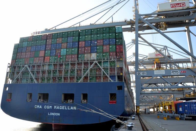 La CGM Magellan di CMA della nave porta-container fotografia stock libera da diritti