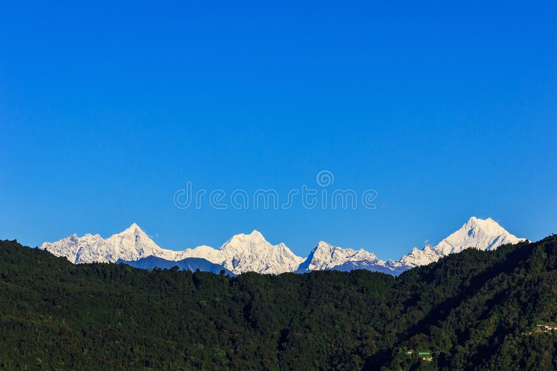 La chaîne de Kanchenjunga photos libres de droits