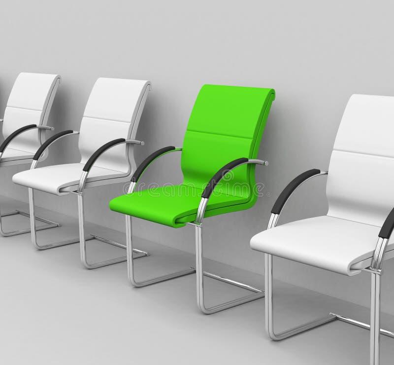 La chaise verte illustration libre de droits