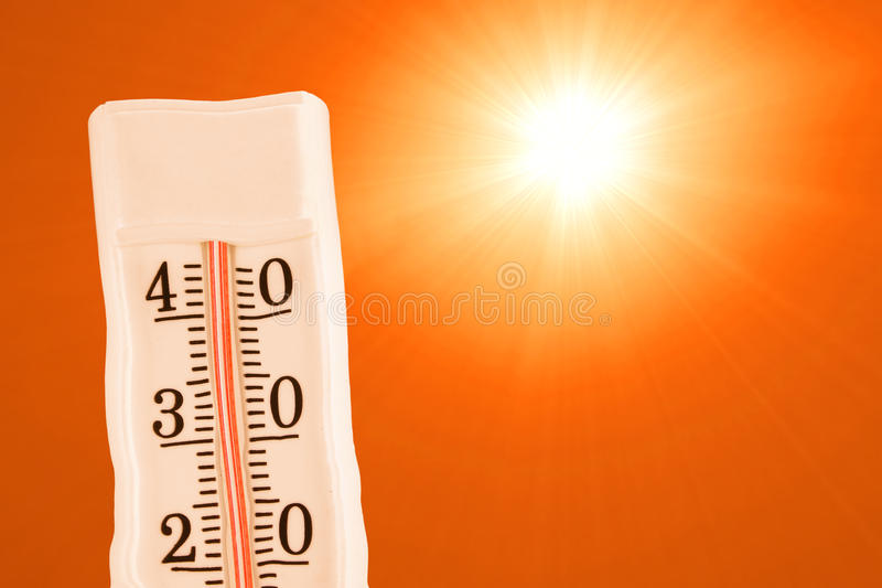 La chaleur extrême d'été photo stock