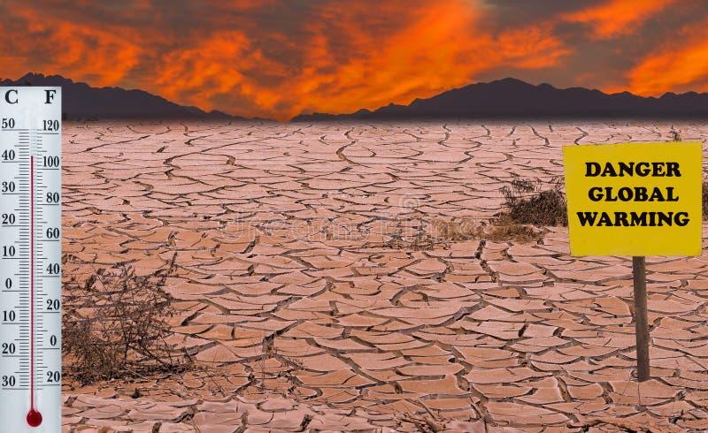 La chaleur rouge ou horreurs du réchauffement global photo stock